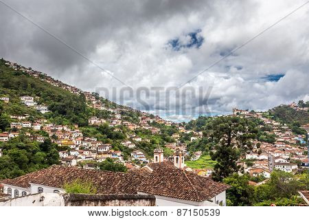 View of the unesco world heritage city of Ouro Preto
