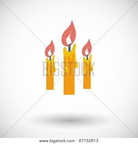 Candles single icon.