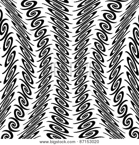 Design Warped Monochrome Vertical Decorative Pattern