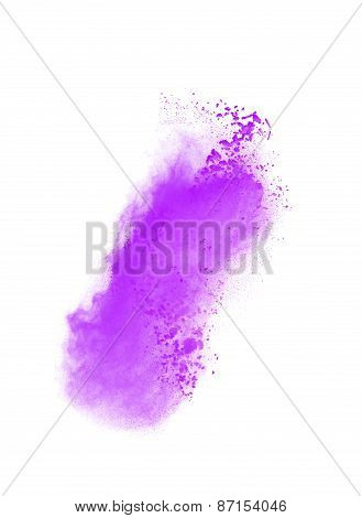 Abstract design of white powder cloud isolated on black background