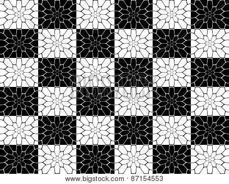 Design Seamless Monochrome Polygon Geometric Pattern