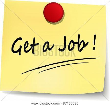 Get A Job Note
