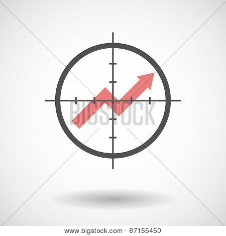 Crosshair Icon With A Graph