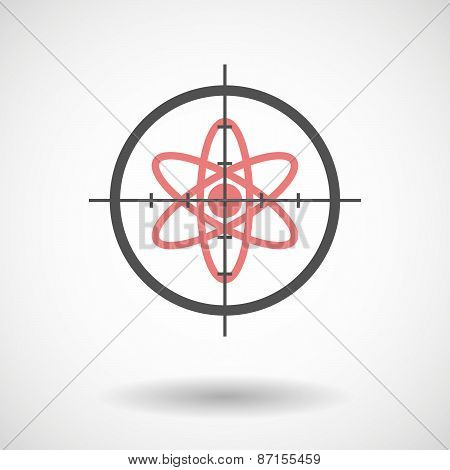 Crosshair Icon With An Atom
