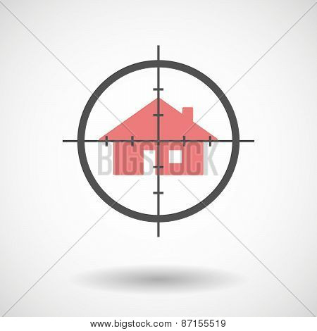 Crosshair Icon With A House