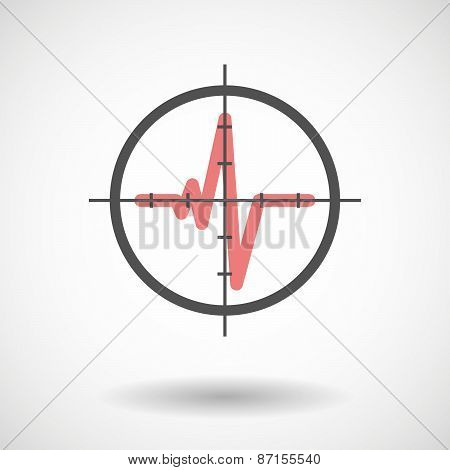 Crosshair Icon With A Blood Drop