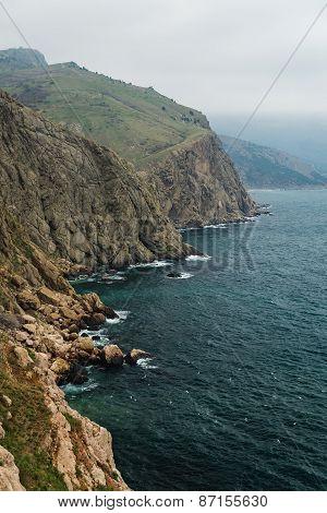 Amazing Landscape View Of The Black Sea Coastline