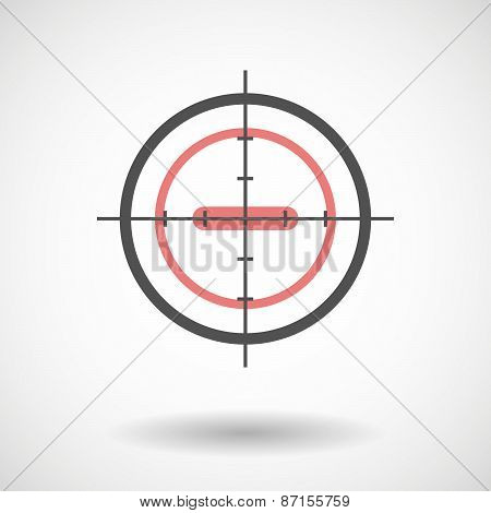 Crosshair Icon With A Subtraction Sign