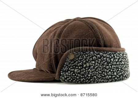 Brown cap with ears