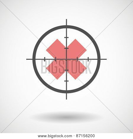 Crosshair Icon With An Irritating Substance Sign