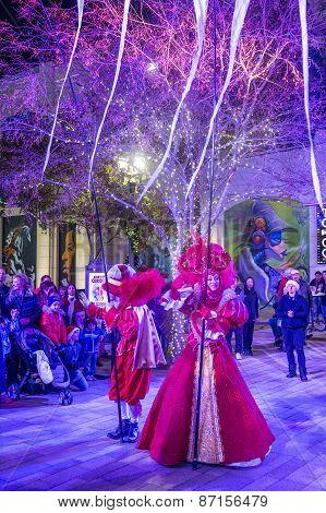 Winter Parq Show In The Linq Las Vegas
