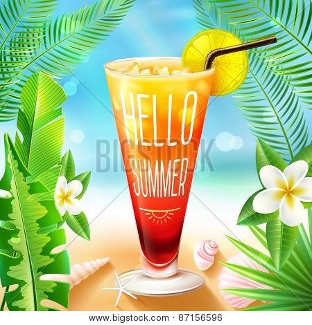Summer Design With Cocktail