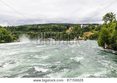 Waterfall On Rhine River