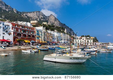 Dock Of Capri Island