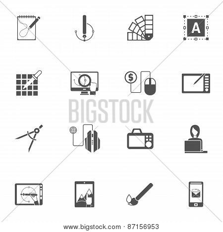 Graphic Design Black Icons