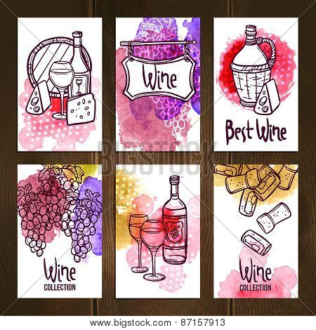 Wine Cards Set
