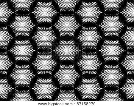Design Seamless Monochrome Hexagon Geometric Pattern