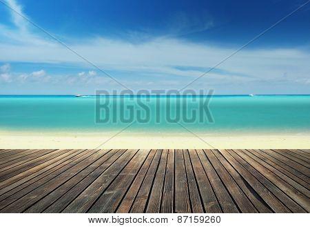 Wooden pier on the beach