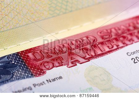 Visa in passport