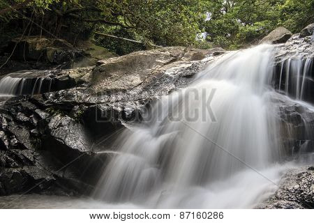 Nice waterfall in little Hawaii trail, Tseung Kwan O, Hong Kong