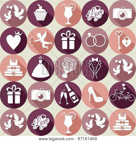 Wedding icon set.