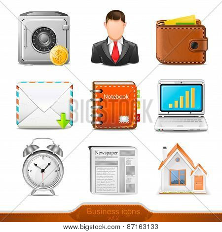 Business icons set 2 illustration
