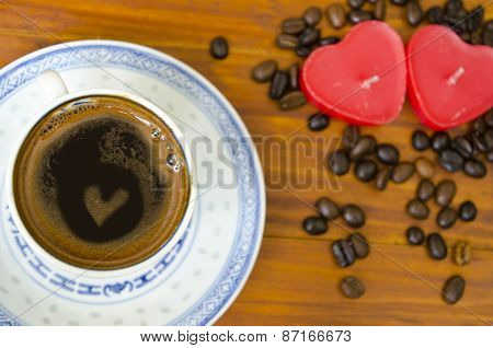 Coffee Heart In A Cup Of Coffee