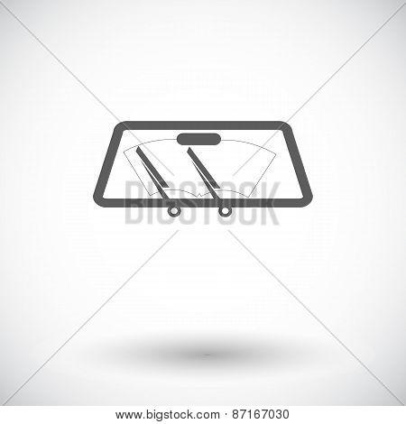 Wiper car single icon.