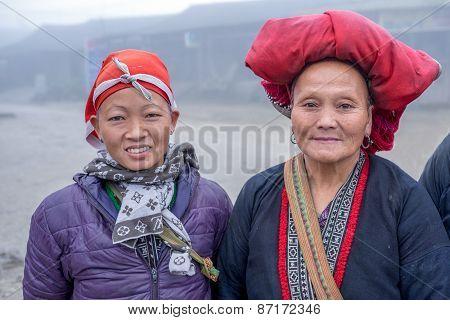 Red Dao women in Ta Phin, Vietnam
