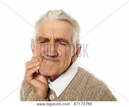 Old Man With Tooth Ache