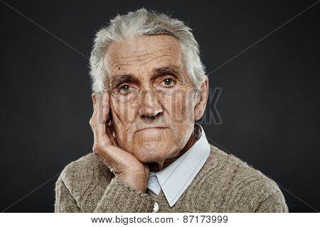 Old Man Closeup Portrait