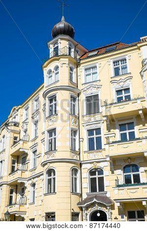 Old yellow building seen in Berlin