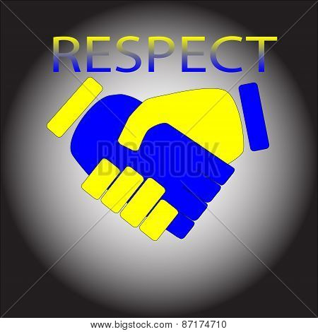 Respect. Shaking Hands