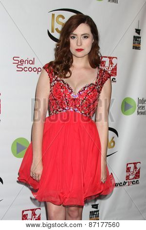 LOS ANGELES - APR 1:  Jillian Clare at the 6th Annual Indie Series Awards at the El Portal Theater on April 1, 2015 in North Hollywood, CA