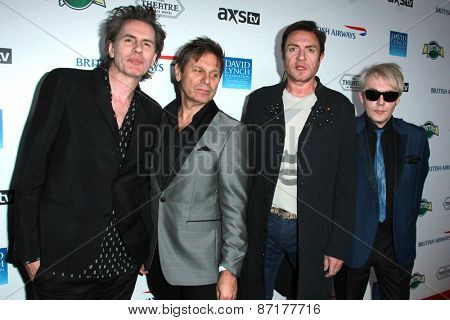 LOS ANGELES - APR 1:  Duran Duran, John Taylor, Simon Le Bon, Roger Taylor, Nick Rhodes at the The Music Of David Lynch at the Ace Hotel on April 1, 2015 in Los Angeles, CA