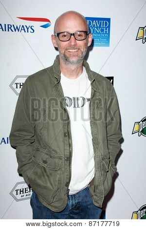 LOS ANGELES - APR 1:  Moby at the The Music Of David Lynch at the Ace Hotel on April 1, 2015 in Los Angeles, CA