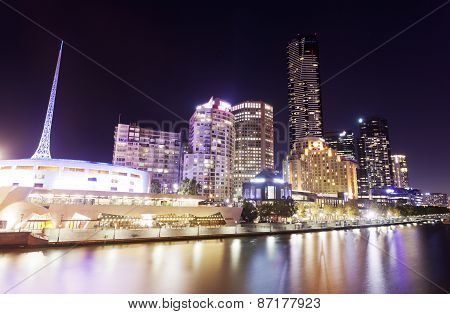 View of Southbank area in Melbourne, Australia