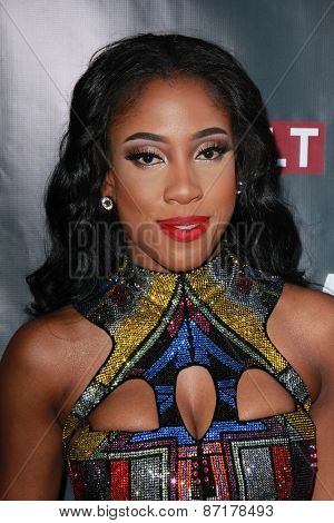 LOS ANGELES - APR 1:  Sevyn Streeter at the Live Perfomances from
