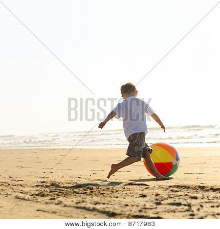 Strandbal vreugde