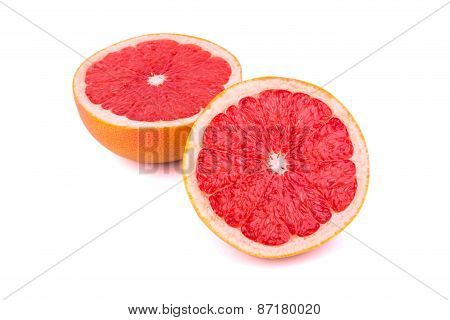 Two Halves Of A Grapefruit
