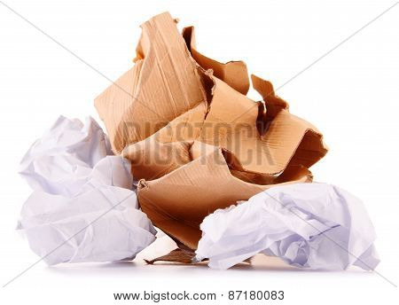 Recycling Paper Isolated On White