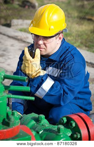 Worker on the oil field