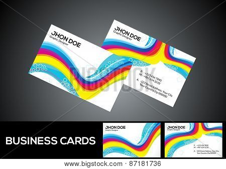 Abstract Artistic Colorful Business Card