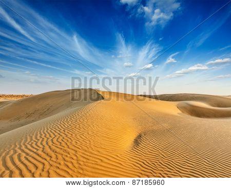 Dunes. Thar Desert, Rajasthan, India