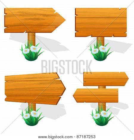 wooden sign boards