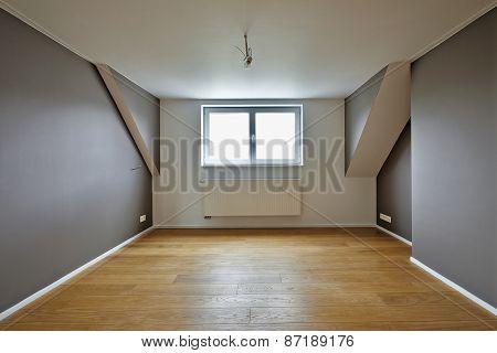 Home Interior With Beautiful Warm Wood Floors
