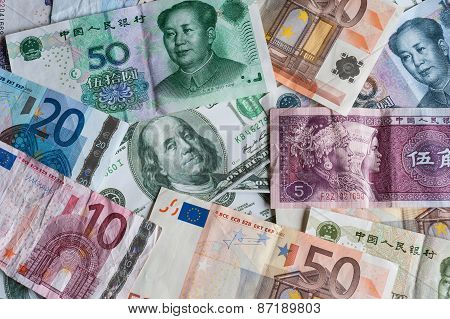 paper currencies background