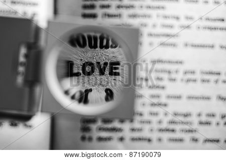 Magnified Word Love