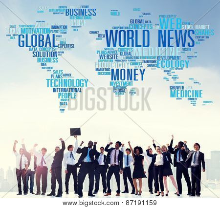 World News Globalization Advertising Event Media Information Concept