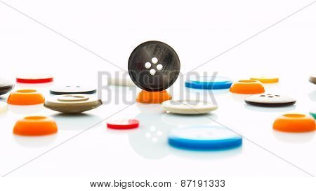 Multicolored Clothes Buttons